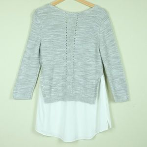 Anthropologie Sweaters - Anthropologie Moth Aselin Layered Tunic Sweater